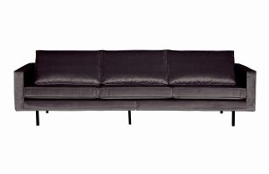 Be Pure Sofa trzyosobowa Rodeo aksamitna antracytowa 79